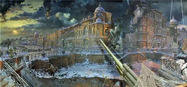 俄罗斯二战题材油画插图32