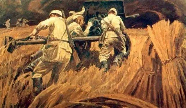 俄罗斯二战题材油画插图33