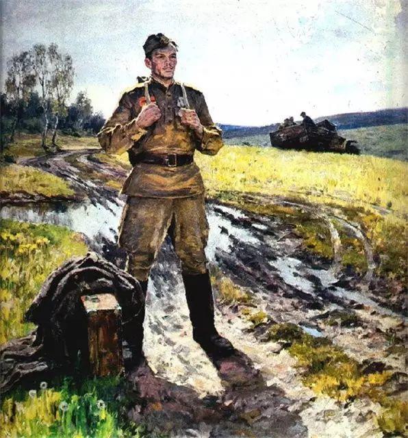 俄罗斯二战题材油画插图34