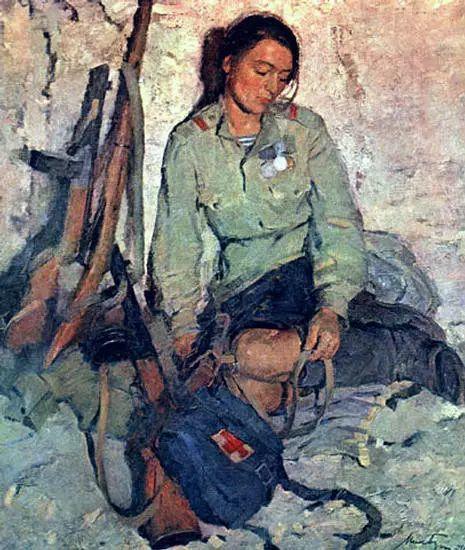 俄罗斯二战题材油画插图35