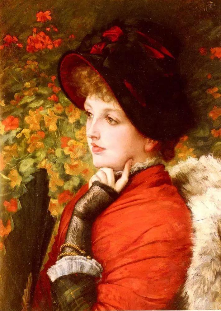 法国雅姆·蒂索(Tissot)人物油画插图1