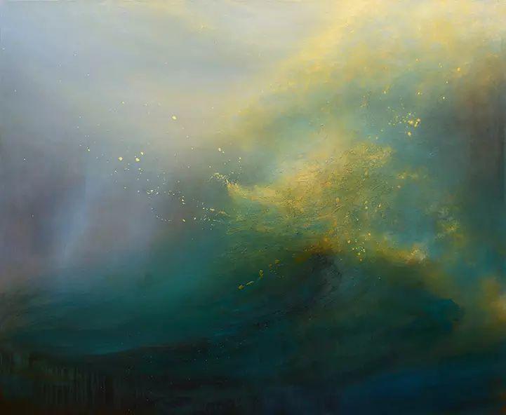 色彩迷幻风格抽象的海景插图3