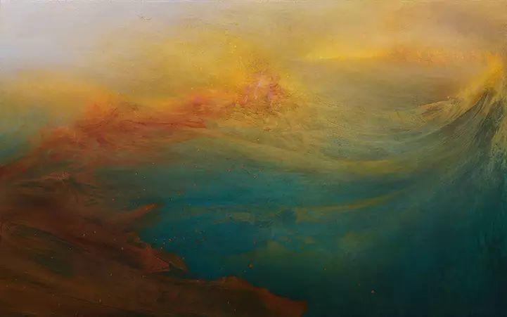 色彩迷幻风格抽象的海景插图5