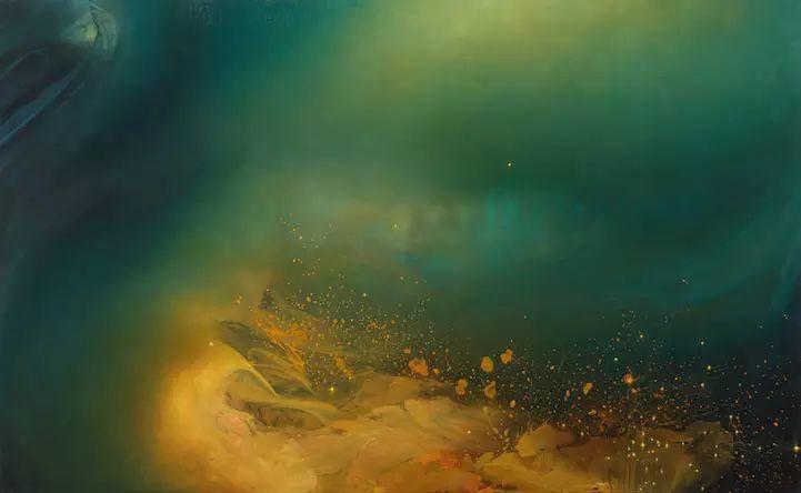 色彩迷幻风格抽象的海景插图13