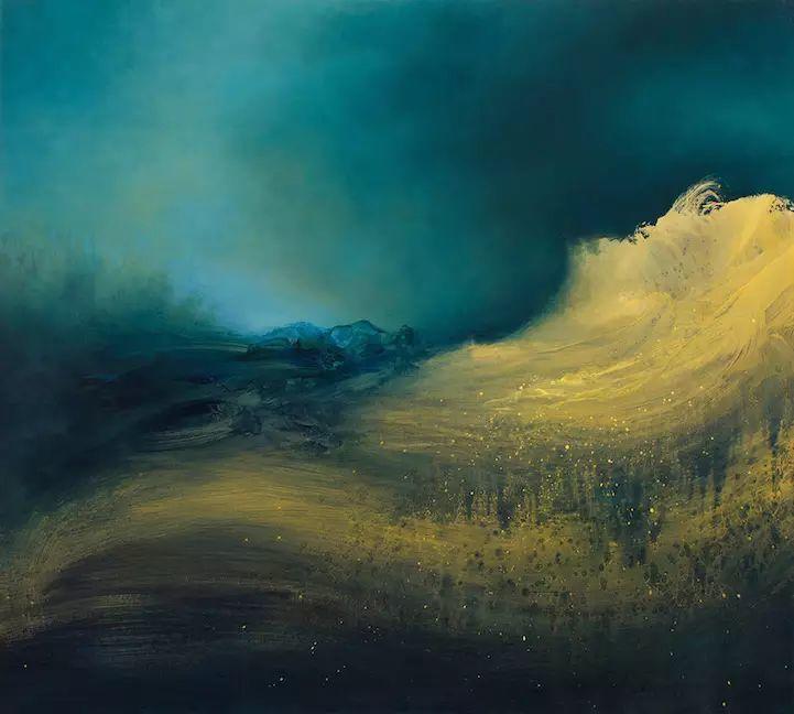 色彩迷幻风格抽象的海景插图15