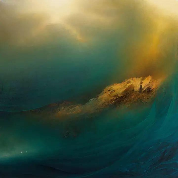 色彩迷幻风格抽象的海景插图21