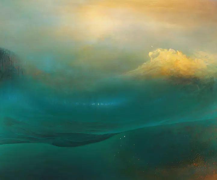 色彩迷幻风格抽象的海景插图23