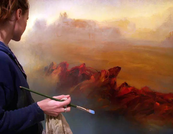 色彩迷幻风格抽象的海景插图27