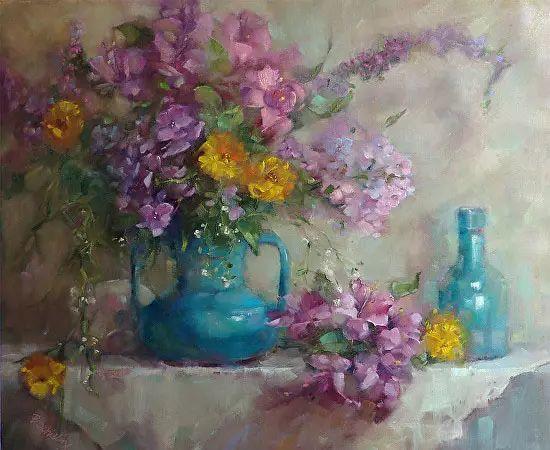 美国女画家Bardara.Schilling静物花卉插图14