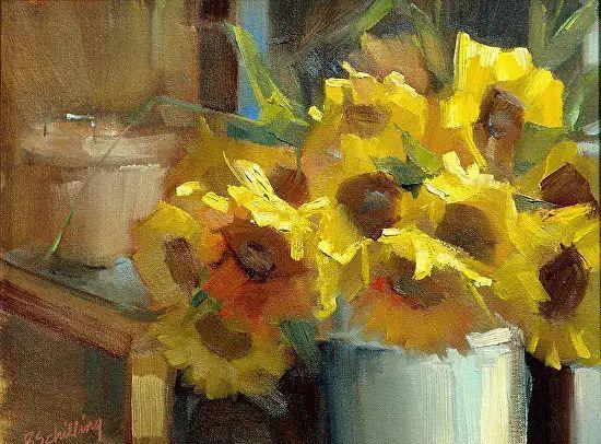 美国女画家Bardara.Schilling静物花卉插图16