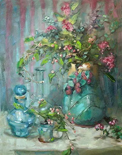 美国女画家Bardara.Schilling静物花卉插图18