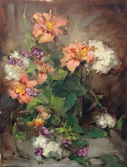 美国女画家Bardara.Schilling静物花卉插图30