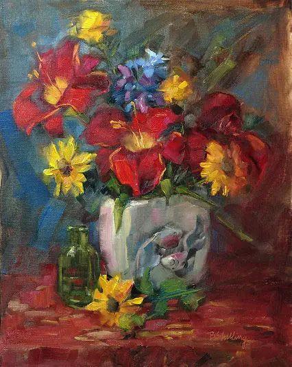 美国女画家Bardara.Schilling静物花卉插图32