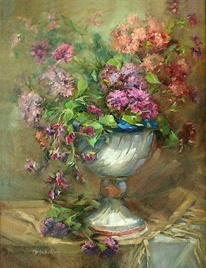 美国女画家Bardara.Schilling静物花卉插图36