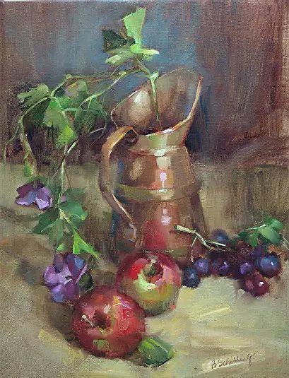 美国女画家Bardara.Schilling静物花卉插图38