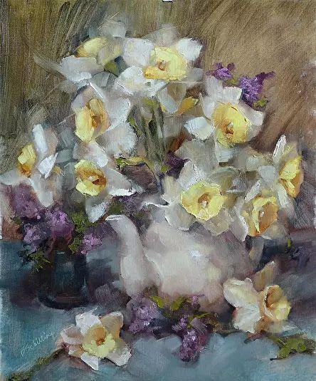 美国女画家Bardara.Schilling静物花卉插图42