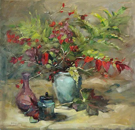 美国女画家Bardara.Schilling静物花卉插图48
