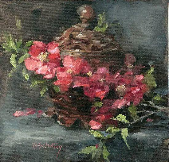美国女画家Bardara.Schilling静物花卉插图52