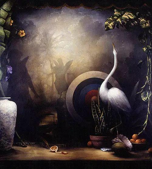 以鹤为题材的油画|Kevin Sloan插图3