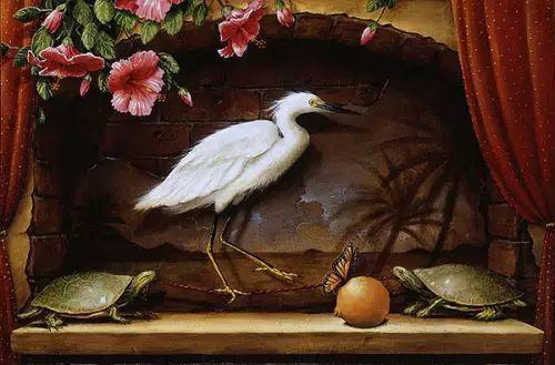 以鹤为题材的油画|Kevin Sloan插图17