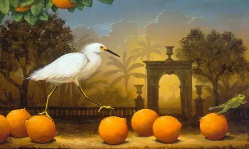 以鹤为题材的油画|Kevin Sloan插图19