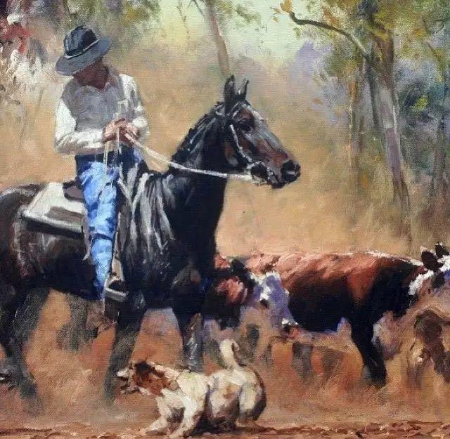 牛仔豪情奔放|澳大利亚Robert Hagan作品插图5