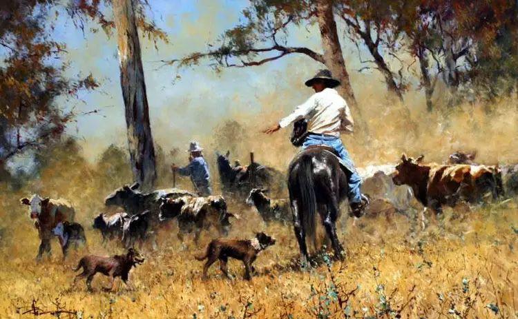 牛仔豪情奔放|澳大利亚Robert Hagan作品插图9