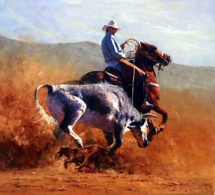 牛仔豪情奔放|澳大利亚Robert Hagan作品插图11