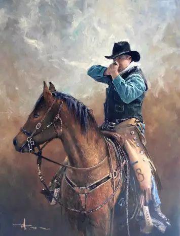 牛仔豪情奔放|澳大利亚Robert Hagan作品插图23