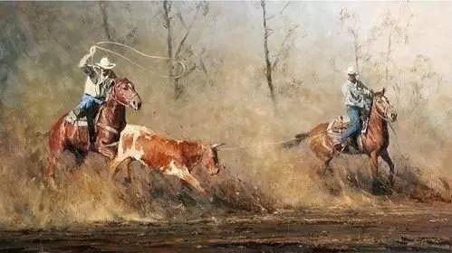 牛仔豪情奔放|澳大利亚Robert Hagan作品插图27