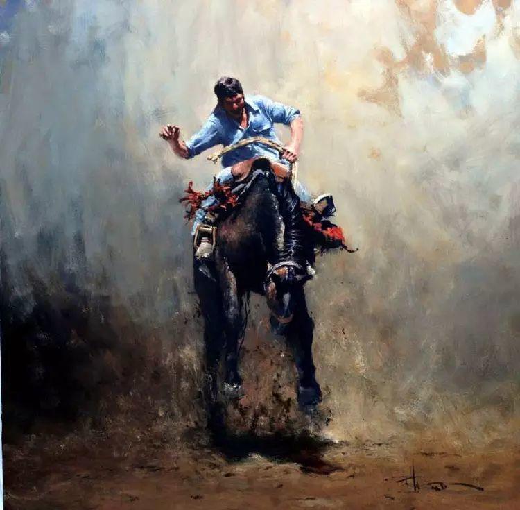 牛仔豪情奔放|澳大利亚Robert Hagan作品插图39