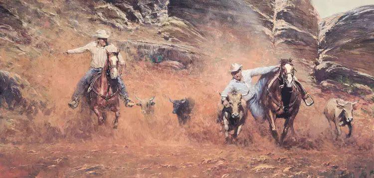 牛仔豪情奔放|澳大利亚Robert Hagan作品插图45