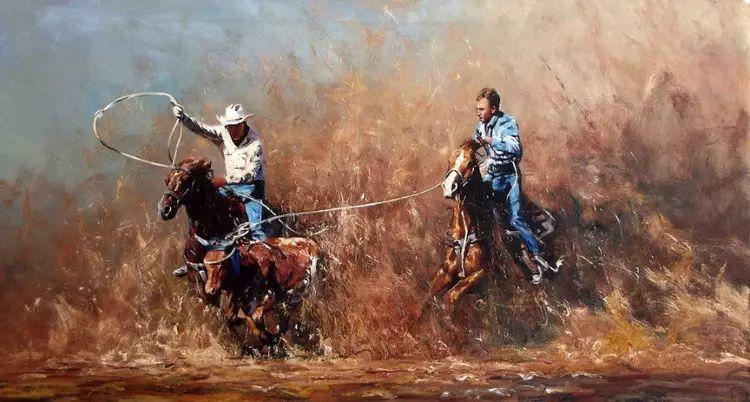 牛仔豪情奔放|澳大利亚Robert Hagan作品插图61