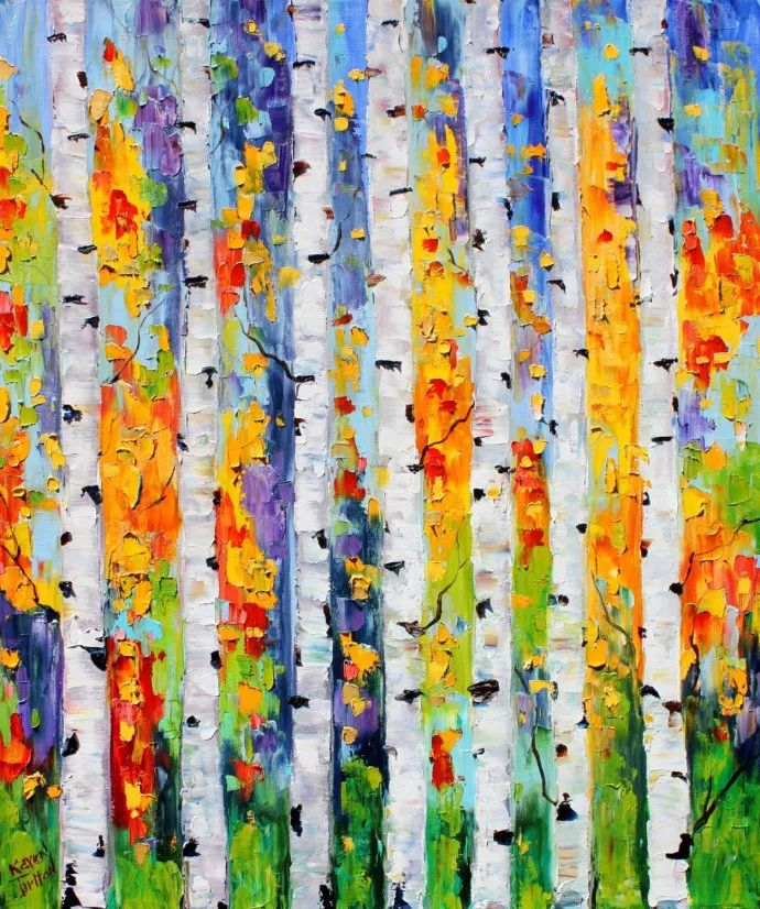 浪漫的风景油画 美国画家凯伦·塔尔顿作品插图1
