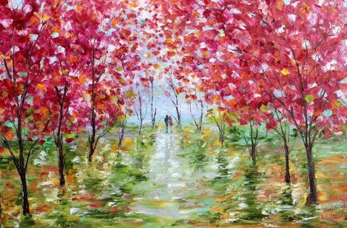 浪漫的风景油画 美国画家凯伦·塔尔顿作品插图3