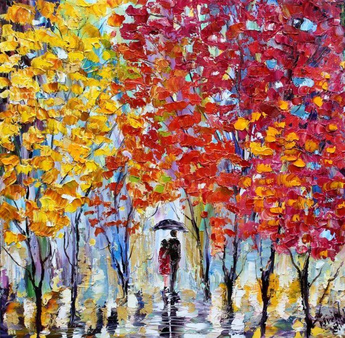 浪漫的风景油画 美国画家凯伦·塔尔顿作品插图5