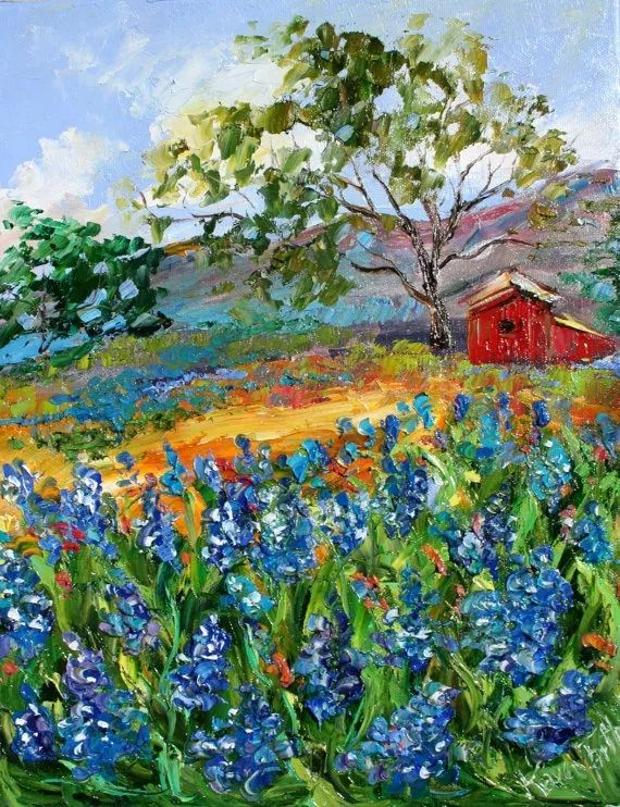 浪漫的风景油画 美国画家凯伦·塔尔顿作品插图9
