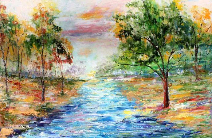 浪漫的风景油画 美国画家凯伦·塔尔顿作品插图15