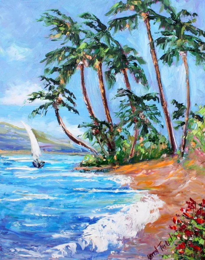 浪漫的风景油画 美国画家凯伦·塔尔顿作品插图17