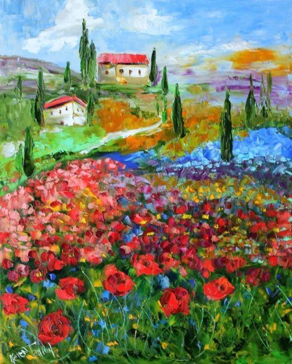 浪漫的风景油画 美国画家凯伦·塔尔顿作品插图23