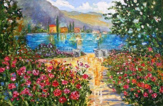 浪漫的风景油画 美国画家凯伦·塔尔顿作品插图25