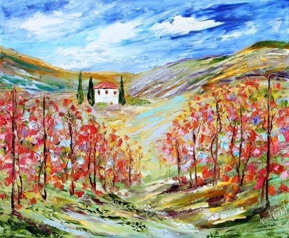 浪漫的风景油画 美国画家凯伦·塔尔顿作品插图31
