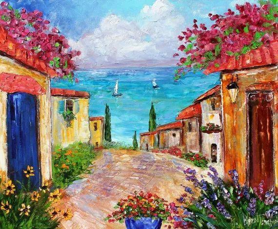 浪漫的风景油画 美国画家凯伦·塔尔顿作品插图33