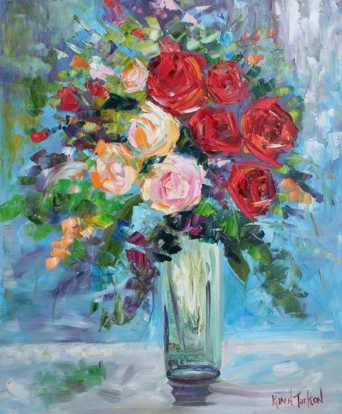 浪漫的风景油画 美国画家凯伦·塔尔顿作品插图35