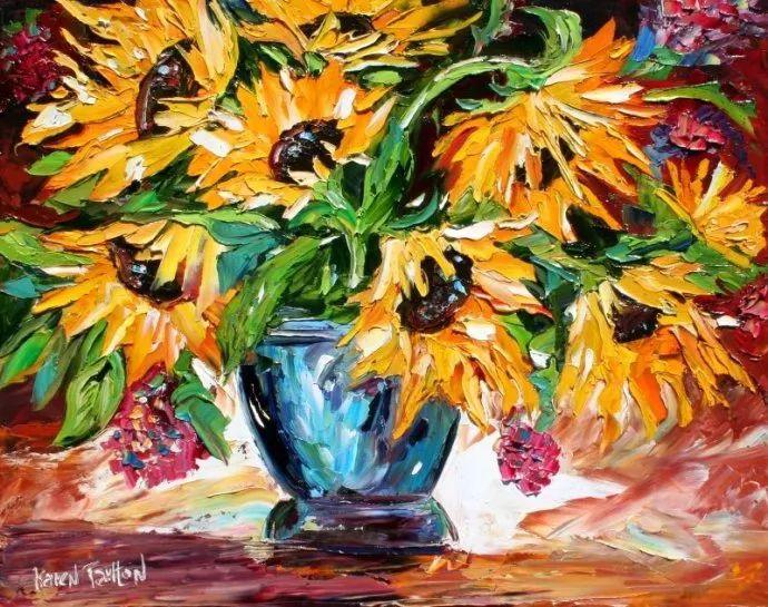 浪漫的风景油画 美国画家凯伦·塔尔顿作品插图43