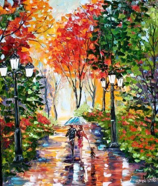 浪漫的风景油画 美国画家凯伦·塔尔顿作品插图45