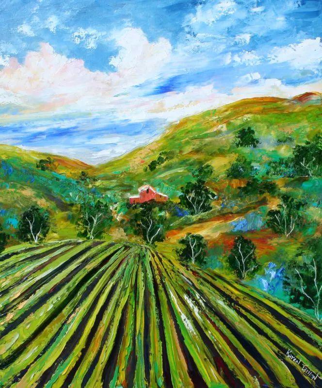 浪漫的风景油画 美国画家凯伦·塔尔顿作品插图51