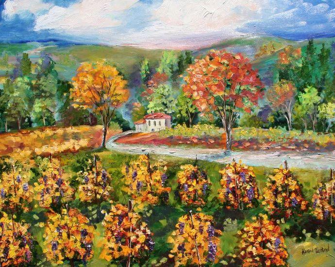 浪漫的风景油画 美国画家凯伦·塔尔顿作品插图55