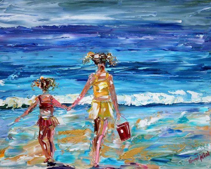 浪漫的风景油画 美国画家凯伦·塔尔顿作品插图57