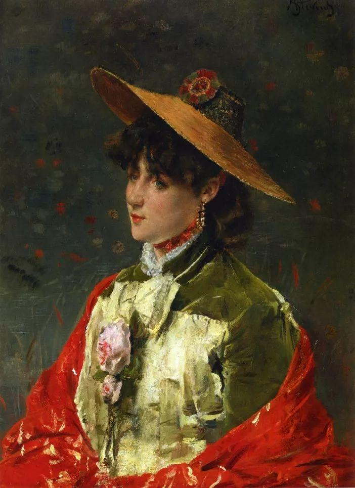当代女性绘画 比利时画家Alfred Stevens作品插图1